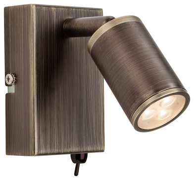Firstlight Orion LED Wall Light Switched Bronze 3453BZ image 1