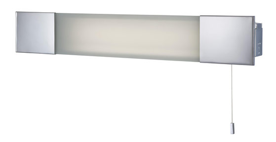 Wall Light With Shaver Socket: Firstlight Over Mirror Light With Shaver Socket Chrome