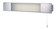 Firstlight Over Mirror Light with Shaver Socket Chrome with Frosted Glass 8236CH