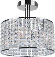 Firstlight Pearl Semi Flush Fitting Chrome with Fine Quality Crystal 6152CH