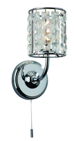 Firstlight Pearl Wall Light (Switched) Chrome with Fine Quality Crystal 6150CH