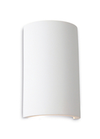 Firstlight Plaster Wall Light Gallery Round LED Uplight & Downlight 8323