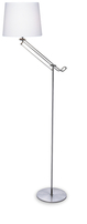 Firstlight Polo Floor Lamp 5480BS Brushed Steel/White Cotton Shade