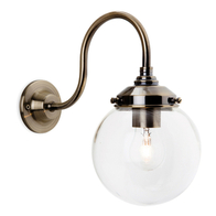 Firstlight Victoria Wall Light Antique Brass with Clear Glass 5936AB