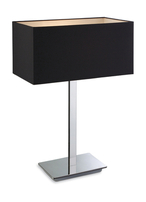 Firstlight Prince Table Lamp 8329BK Polished Stainless Steel with Black Shade