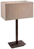 Firstlight Prince Table Lamp 8329BZOY Bronze with Oyster Shade