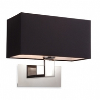 Firstlight Prince Wall Light 8370BK Polish Chrome and Black Shade