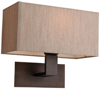 Firstlight Prince Wall Light Bronze and Oyster Shade 8370BZOY