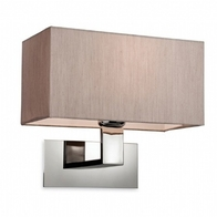 Firstlight Prince Wall Light 8370OY Polish Chrome and Oyster Shade