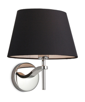 Firstlight Princess Wall Light 8369BK Polished Stainless Steel with Black Shade
