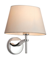 Firstlight Princess Wall Light 8369CR Polished Stainless Steel with Cream Shade