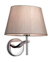 Firstlight Princess Wall Light 8369OY Polished Stainless Steel with Oyster Shade