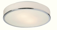 Firstlight Profile Flush Fitting Light Chrome with Opal Glass 5756CH