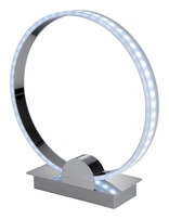 Firstlight Ring LED Table Lamp Chrome with RGB LED's 8385CH