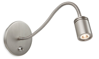 Firstlight Ritz LED Wall Light Switched 8607BN Brushed Nickel
