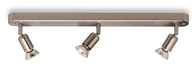 Firstlight Runner Downlight 3 Light Bar Brushed Steel 7003BS