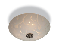 Firstlight Sadie Semi Flush Fitting Opal Glass with Decerative Pattern 8317