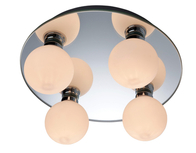 Firstlight Showtime Mirror Flush Fitting Mirror with Opal Glass 8106