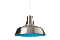 Firstlight Smart Pendant 8623BSBL Brushed Steel with Blue Inside