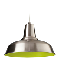 Firstlight Smart Pendant 8623BSGN Brushed Steel with Green Inside