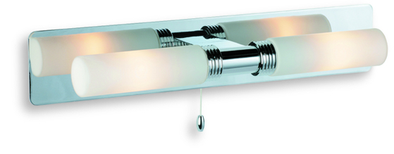 Firstlight Spa 2 Light Wall (Switched) Chrome with Opal Glass 5754CH