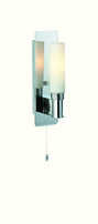 Firstlight Spa Single Wall Light (Switched) Chrome with Opal Glass 5753CH