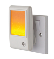 Firstlight Sparkle LED Night Light 8372AM White with Amber LED