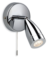 Firstlight Storm LED Single Spot Wall Light 8381CH Chrome