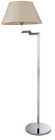 Firstlight Swing Floor Lamp 8224PST Polished Stainless Steel with Cream Shade