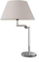Firstlight Swing Table Lamp 8223PST Polished Stainless Steel with Cream Shade