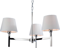 Firstlight Transition 3 Light Fitting Polished Stainless Steel with Cream Shade 8218PST
