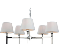 Firstlight Transition 5 Light Fitting Polished Stainless Steel with Cream Shade 8219PST