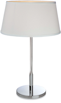 Firstlight Transition Table Lamp 8220PST Polished Stainless Steel with Cream Shade