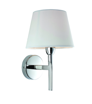 Firstlight Transition Wall Light Polished Stainless Steel with Cream Shade 8217PST