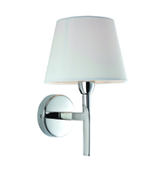 Firstlight Transition Wall Light 8217PST Polished Stainless Steel with Cream Shade