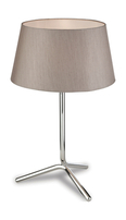 Firstlight Tripod Table Lamp 8330OY Polished Stainless Steel with Oyster Shade