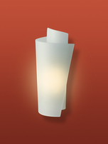 Firstlight Vetro Wall Light WL223SS Satin Steel with Acid Glass