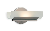 Firstlight Vetro Wall Light WL274SS Satin Steel with Acid Glass