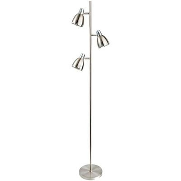 Firstlight Vogue Floor Lamp Brushed Steel with Chrome 3468BS image 1