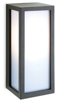 Firstlight Warwick Wall Light Die Cast Aluminium Graphite with Opal Diffuser 2331GP