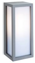 Firstlight Warwick Wall Light Die Cast Aluminium Silver with Opal Diffuser 2331SI
