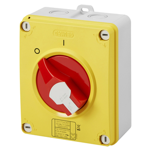 Gewiss Surface Mounting Rotary Isolator - HP - Emergency - 40A 3P - GW70442P