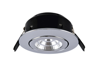 Greenbrook Vela Compact Tilt LED Dimmable Downlight - Polished Chrome - LEDDLTC3000PC
