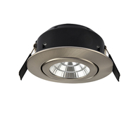 Greenbrook Vela Compact Tilt LED Dimmable Downlight - Satin Chrome - LEDDLTC3000SC