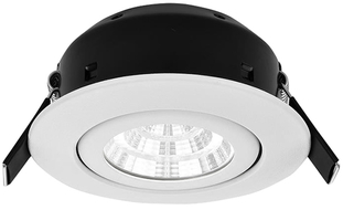Greenbrook Vela Compact Tilt LED Dimmable Downlight - White - LEDDLTC3000W