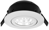 Greenbrook Vela Compact Tilt LED Dimmable Downlight - White - LEDDLTC4000W