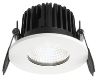 Greenbrook Vela  IP65 Fire Rated Fixed LED Dimmable Downlight - White - ADV4000W