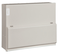 Hager Design 10 Metal 6 Way 100A Consumer Unit VML106