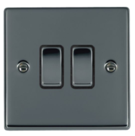Hamilton Hartland Black Nickel 2G Light Switch 78R22BK-B