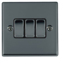 Hamilton Hartland Black Nickel 3G Light Switch 78R23BK-B